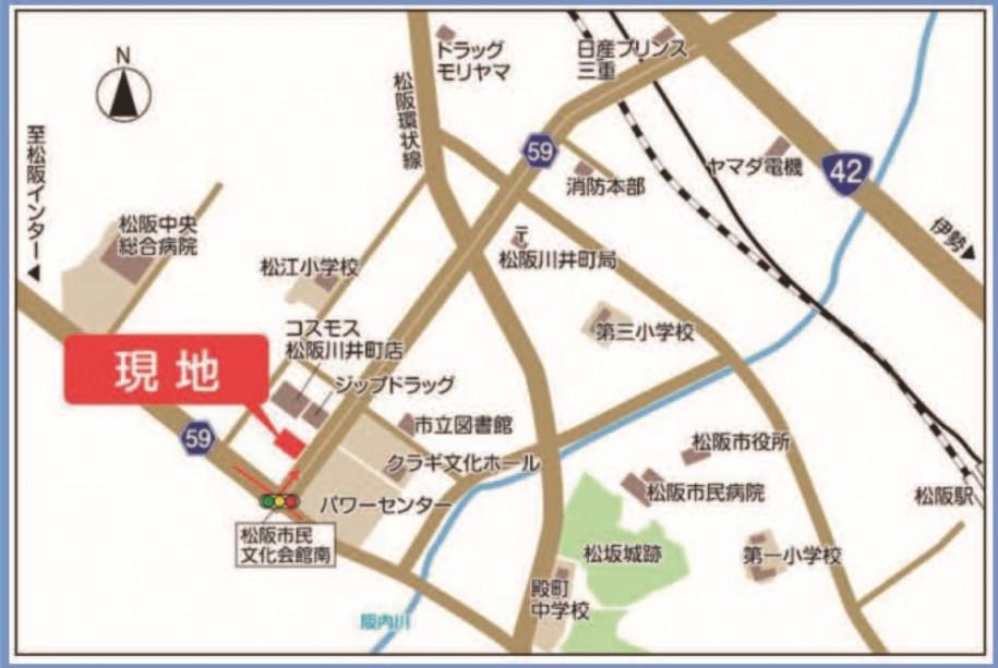 セキュレア川井町地図